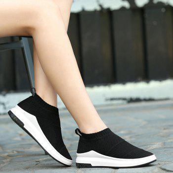 Striped Breathable Slip On Athletic Shoes - 38 38