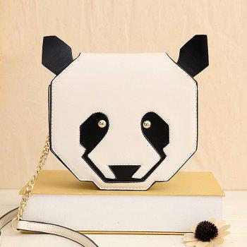 Panda Shaped Chain Crossbody Bag - WHITE WHITE