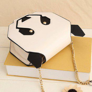 Panda Shaped Chain Crossbody Bag -  WHITE