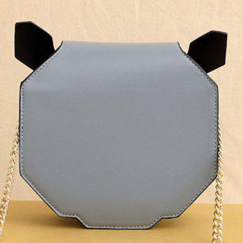 Panda Shaped Chain Crossbody Bag -  BLUE GRAY