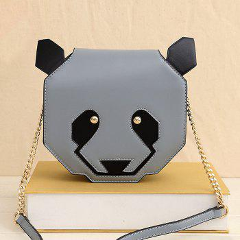 Panda Shaped Chain Crossbody Bag - BLUE GRAY BLUE GRAY