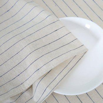 Striped Pattern Linen Table Cloth - W55 INCH * L78 INCH W55 INCH * L78 INCH