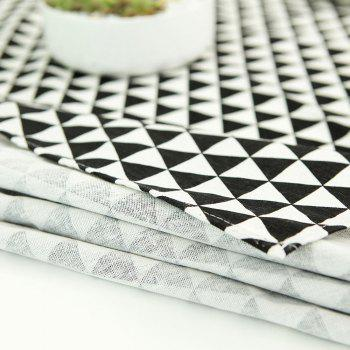 Geometry Print Linen Tablecloth Kitchen Dining Decor - W55 INCH * L55 INCH W55 INCH * L55 INCH