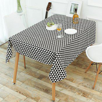 Geometry Print Linen Tablecloth Kitchen Dining Decor - W55 INCH * L71 INCH W55 INCH * L71 INCH