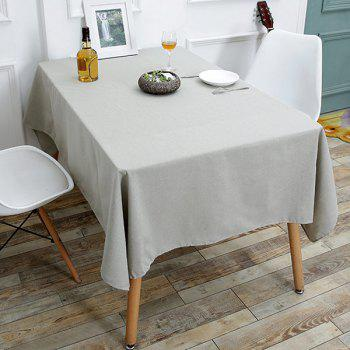 Linen Tablecloth for Kitchen - GRAY W55 INCH * L71 INCH