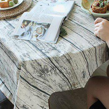 Linen Wood Grain Print Table Cloth - WOOD WOOD