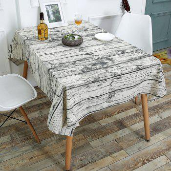 Linen Wood Grain Print Table Cloth - WOOD W55 INCH * L40 INCH