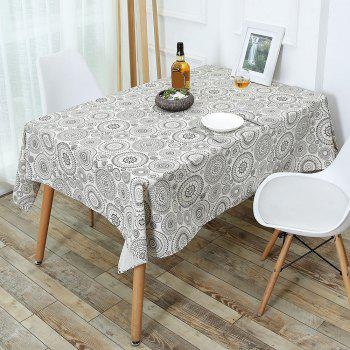 Bohemia Style Linen Dining Table Desk Cover - GRAY GRAY