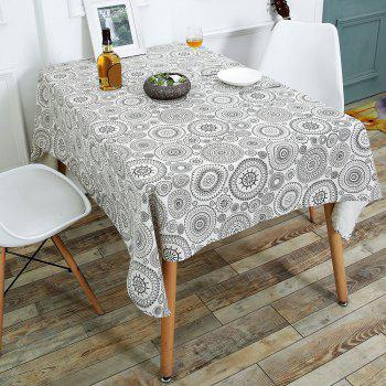 Bohemia Style Linen Dining Table Desk Cover - GRAY W55 INCH * L40 INCH