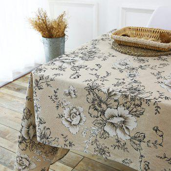 Floral Print Linen Table Cloth - W55 INCH * L71 INCH W55 INCH * L71 INCH