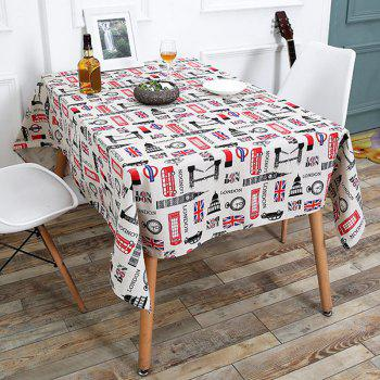 Linen British Style Printed Table Cloth - COLORFUL W55 INCH * L55 INCH