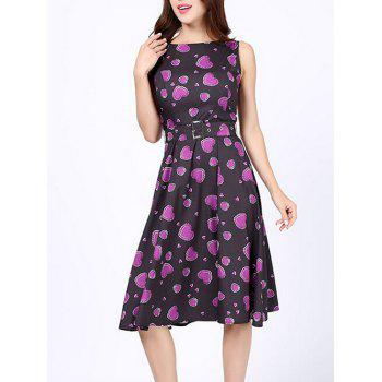 Heart Print Pin Up Party Dress