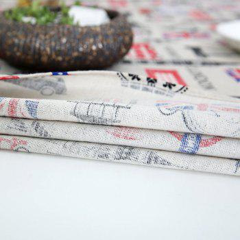 Linen British Style Printed Table Cloth - W55 INCH * L78 INCH W55 INCH * L78 INCH