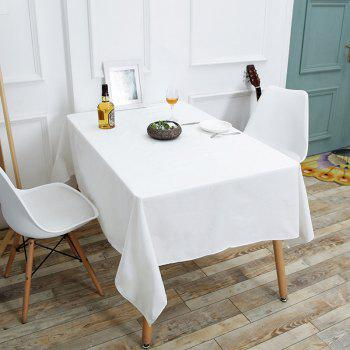 Kitchen Product Linen Table Cloth for Dining - WHITE W55 INCH * L40 INCH