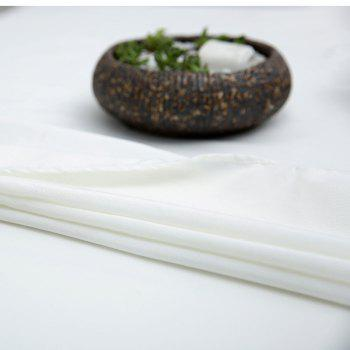 Kitchen Product Linen Table Cloth for Dining - WHITE WHITE