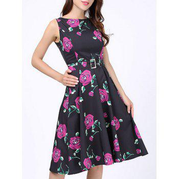 Floral Party Swing Dress