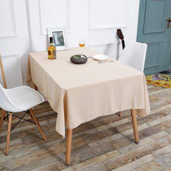 Linen Kitchen Table Cloth - BEIGE W55 INCH * L78 INCH
