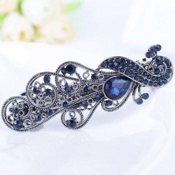 Strass Inlay Vintage Peacock Shape Barrette