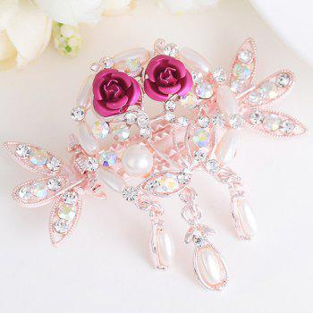 Rhinestone Inlaid Rose Embellished Hairgrip