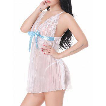 Sheer Lace Slip Babydoll Dress - XL XL