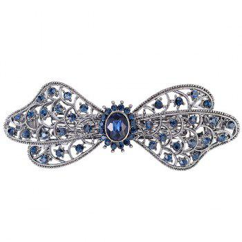 Faux Crystal Inlaid Hollow Out Flower Barrette
