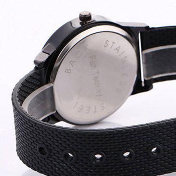 Succulents Flower Face Canvas Watch -  BLACK