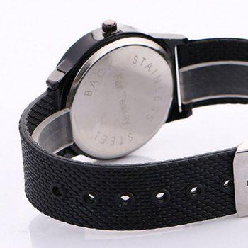 Tropical Plant Face Canvas Watch -  BLACK