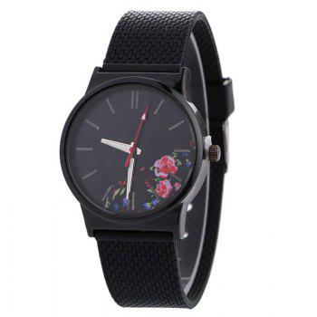 Canvas Watch With Flower Face