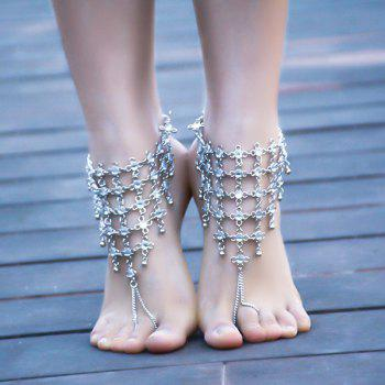 1PC Chinese Knot Rhinestone Slave Anklet