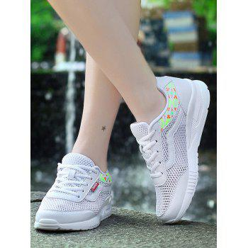 Breathable Geometric Pattern Athletic Shoes - 40 40