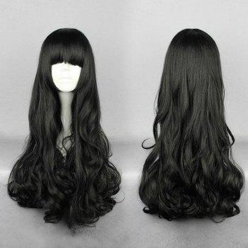 Long Neat Bang Curly Synthetic Wig