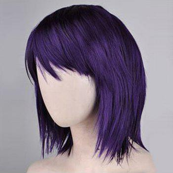 Neck Length Side Bang Short Straight Synthetic Wig