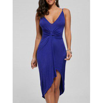 Knotted Asymmetrical Dress - ROYAL S