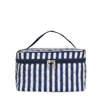 Top Handle Quilted Cosmetic Bag - BLUE BLUE