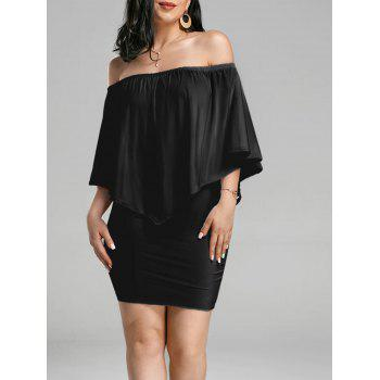 Off The Shoulder Poncho Popover Bodycon Dress