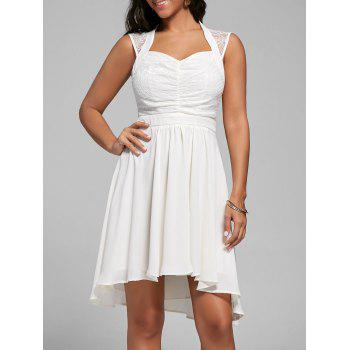 Sweetheart Lace Panel High Low Dress