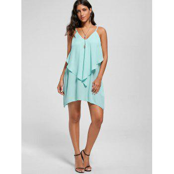 Overlay Flowy Mini Cami Dress - MINT M