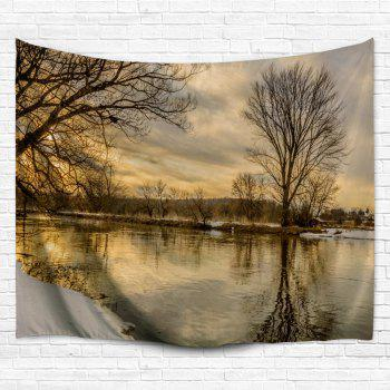 Wall Art Sunset Scenery Outdoor Blanket Tapestry - COLORMIX W59 INCH * L59 INCH