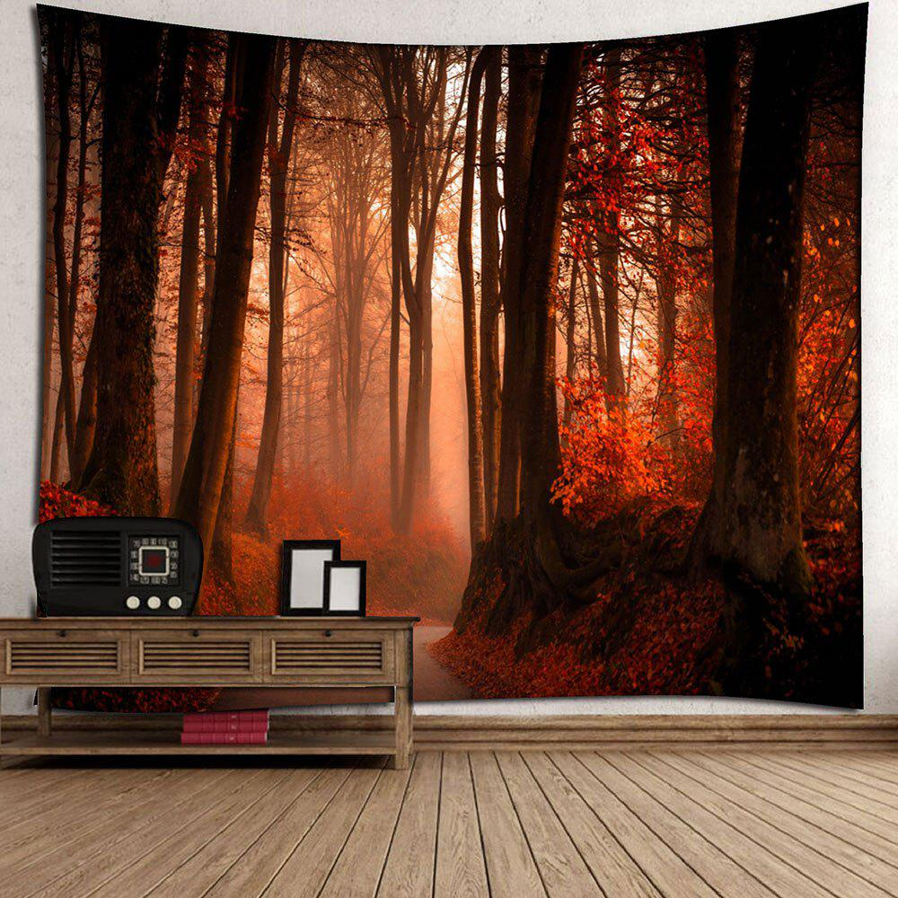 Maple Leaf Forest Waterproof Wall Tapestry - RED W79 INCH * L59 INCH