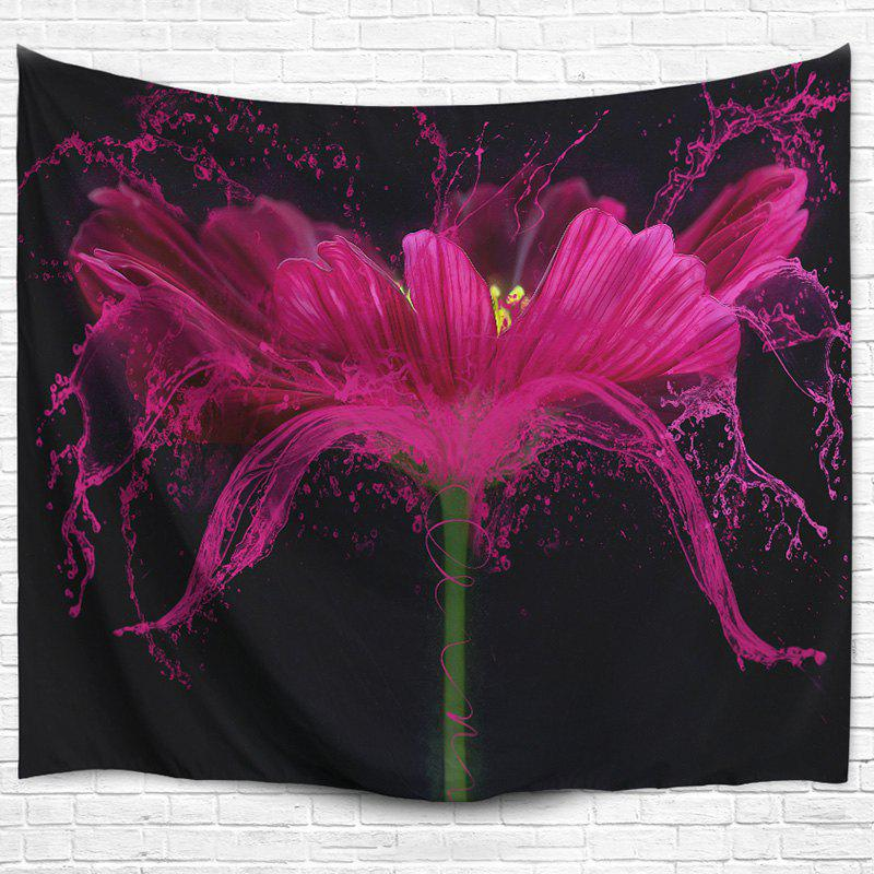 Flower Print Beach Throw Wall Hanging Tapestry 3d flower print square beach throw