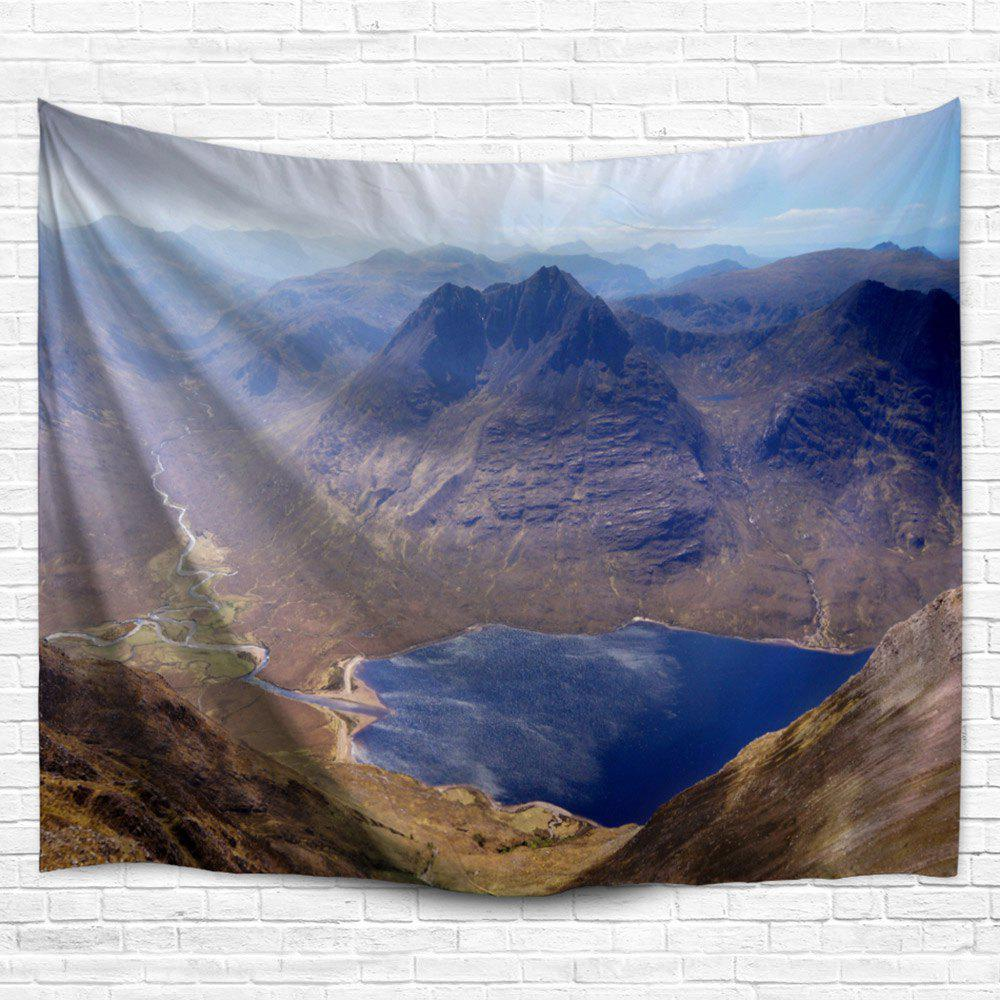 Mountain Landscape Wall Hanging Fabric Tapestry - COLORMIX W51 INCH * L59 INCH