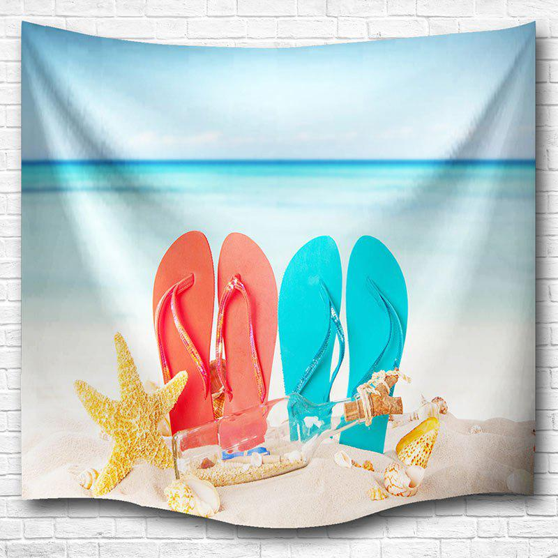 Beach Shoes Wall Hanging Dorm Bedspread Tapestry - COLORMIX W59 INCH * L59 INCH