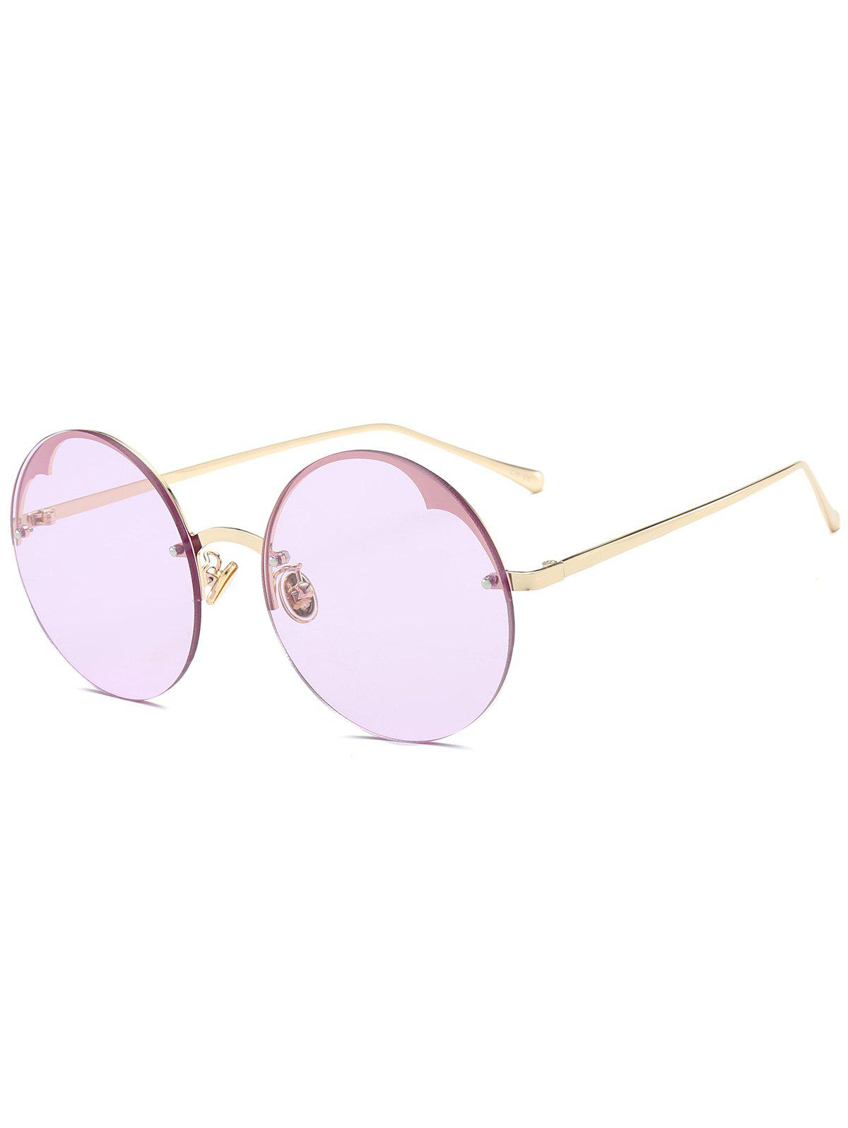 Metal Semi-rimless Round Sunglasses - RADIANT