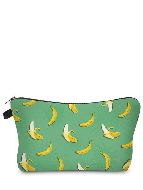 Fruit Print Clutch Makeup Bag - GREEN