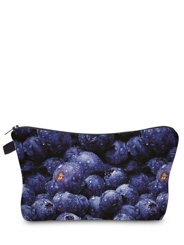 Fruit Print Clutch Makeup Bag - BLUE