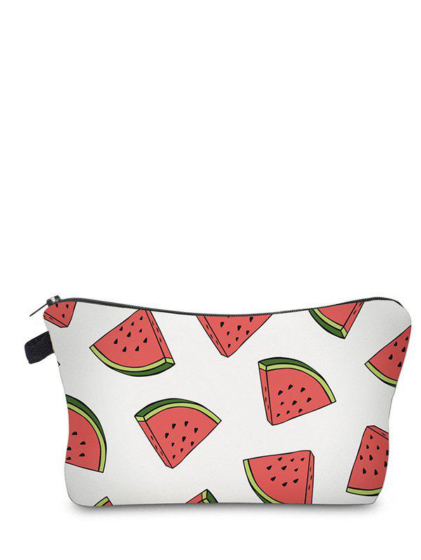 Sac à maquillage à embrayage à fruits - Blanc