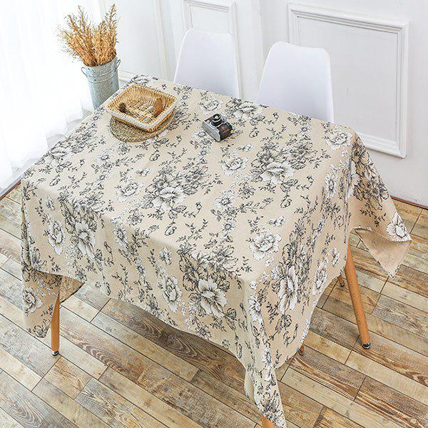 Floral Print Linen Table Cloth - GRAY W55 INCH * L40 INCH