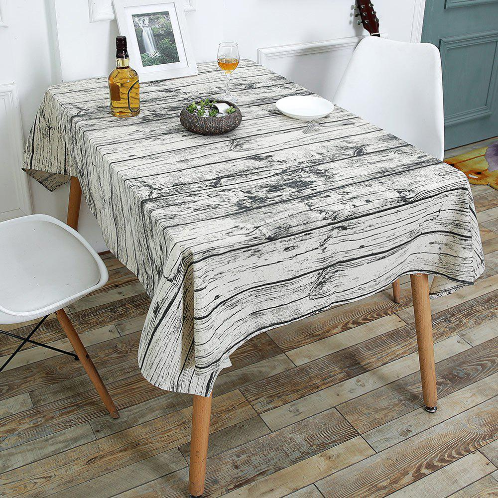 Linen Wood Grain Print Table Cloth - WOOD W55 INCH * L55 INCH