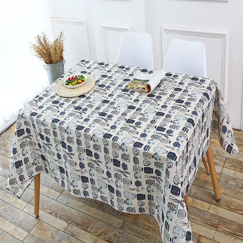 Bottle Print Linen Table Cloth - GRAY W55 INCH * L71 INCH