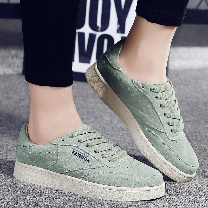Hollow Low Top Breathable Sneakers - GREEN 38